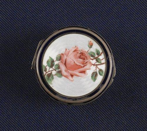 54: Austrian silver and enamel snuff box, 19th c.,