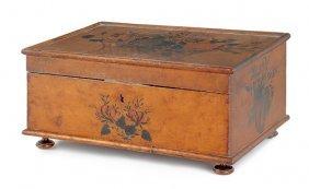 American Birds-eye Maple Sewing Box, Early 19th