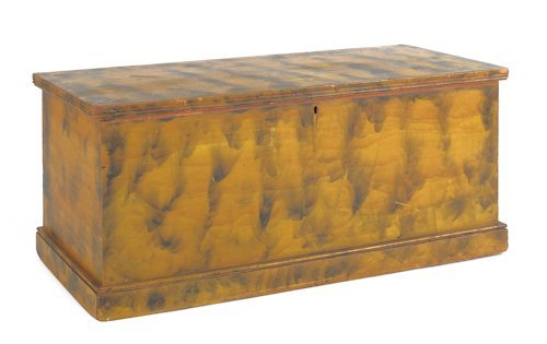 58: Small Pennsylvania painted blanket chest, ca. 18