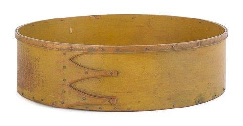 61: Shaker three-finger spit box, 19th c., with ori