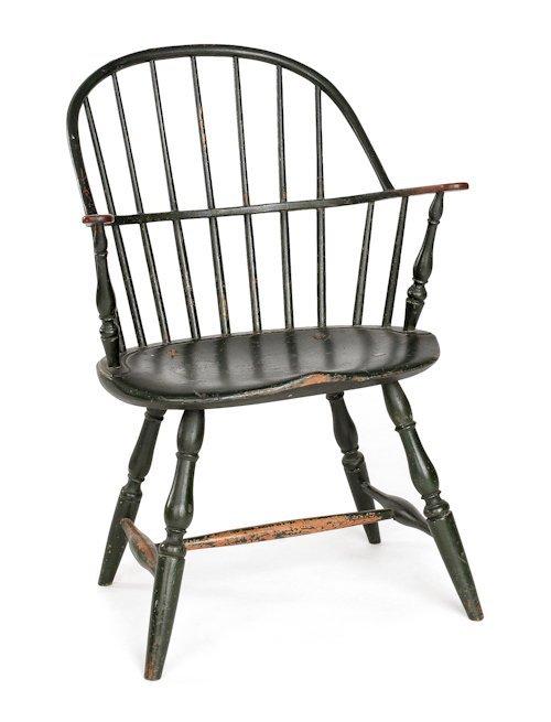 64: Philadelphia sackback Windsor armchair, ca. 1770