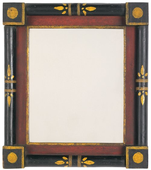 68: Pennsylvania carved pine frame, 19th c., with a