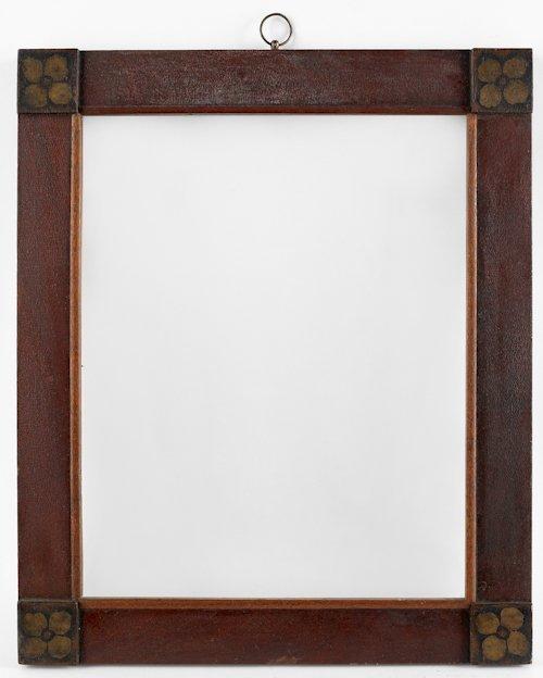 69: Pair of decorated frames, 19th c., having block