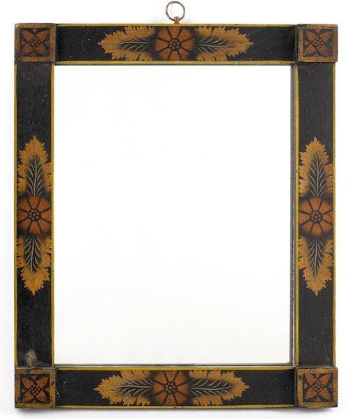 70: Painted frame, 19th c., having blocked corners