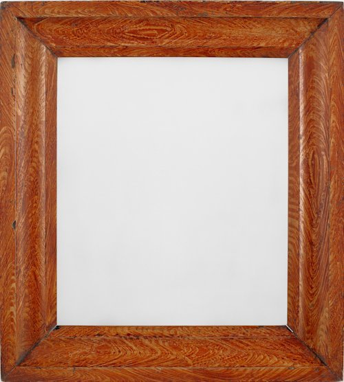 71: Pair of yellow and ochre grain decorated frames,