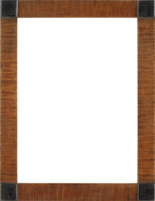72: Three tiger and bird's-eye maple frames with blo