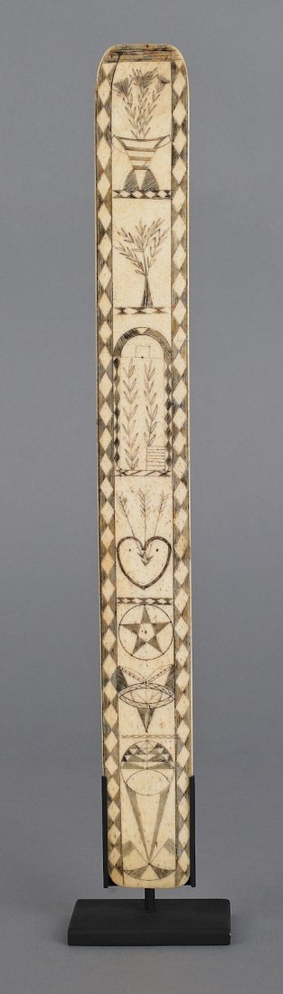 98: American whalebone busk, early/mid 19th c., wit