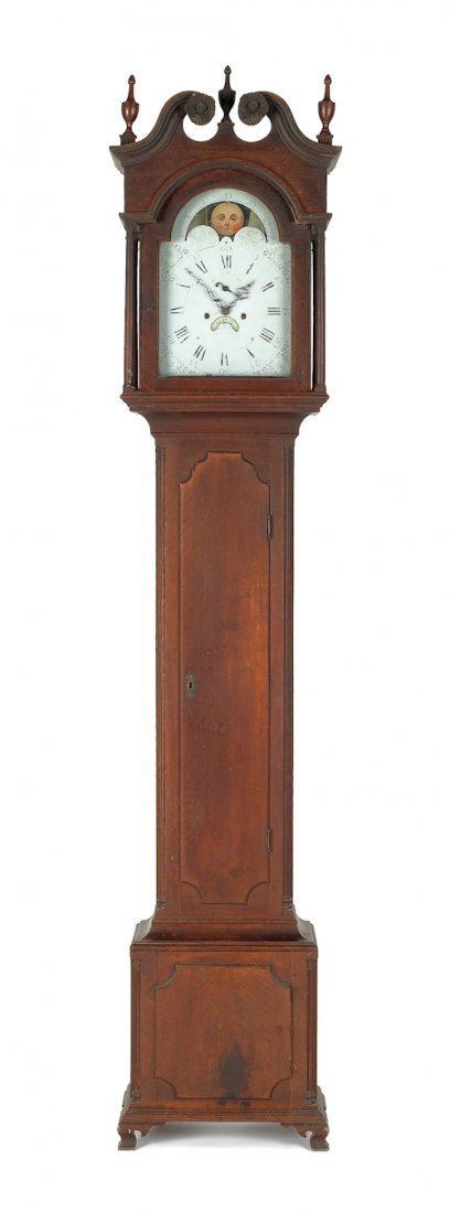 102: Trenton, New Jersey Chippendale walnut tall case