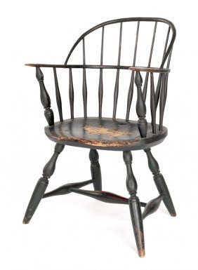 New England Sackback Windsor Armchair, Ca. 1770