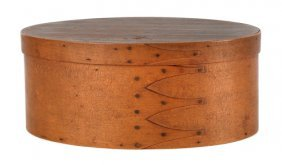 Oval Shaker Bentwood Box, Of Four-finger Constr