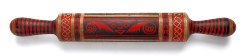 134: Pennsylvania carved and profusely decorated roll