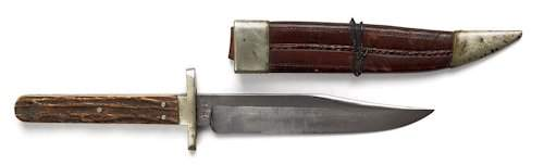 376: English bowie knife, ca. 1851-1900, inscribed o