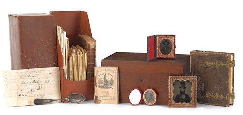 381: Dovetailed storage box belonging to Captain Denn