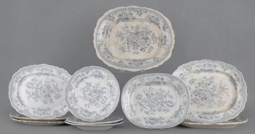 15: Collection of Staffordshire, 19th c., in the Asia