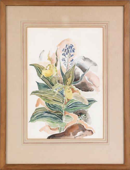 671: Vera White (American, 1888-1966), watercolor of i