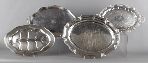 680: French silver plated platter, stamped Durand, 1