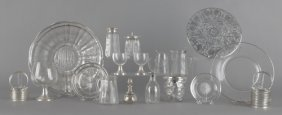 Group Of Silver Mounted And Silver Overlay Tablew