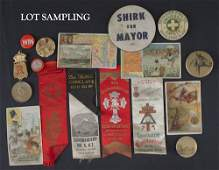 771 Collection of ephemera to include political ribb