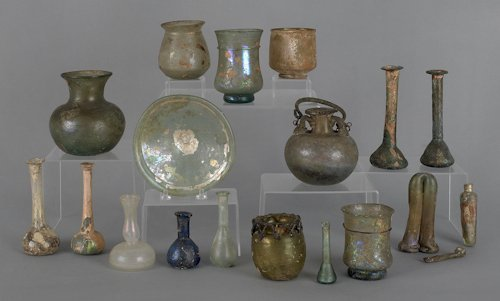 895: Collection of ancient Roman glass.