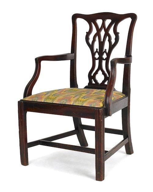 1042: George III mahogany armchair, ca. 1765.