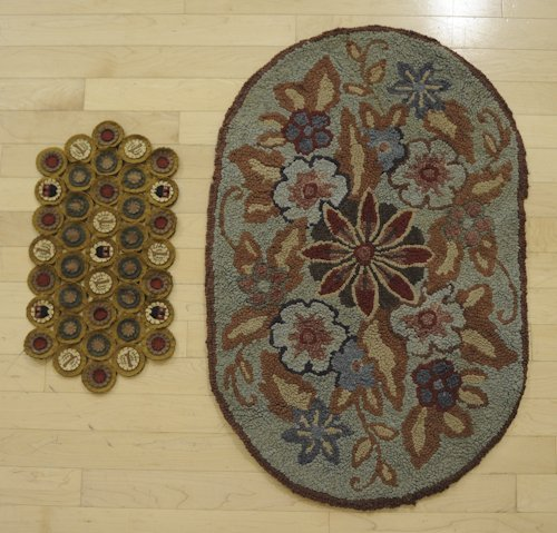 20: Hooked rug, 20th c., 34 1/2'' x 21 1/2'', together