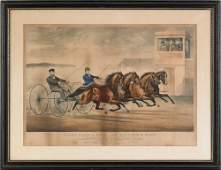 332: Currier & Ives lithograph titled Ethan Allen & m