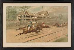 Currier & Ives lithograph titled The Futurity Ra