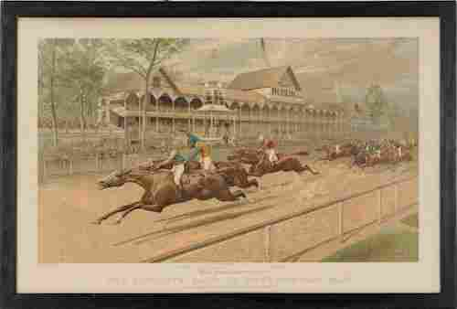 333: Currier & Ives lithograph titled The Futurity Ra