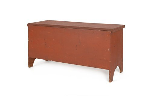 722: New England painted pine blanket chest, 19th c.,