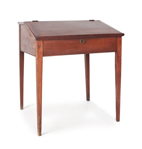 731: Pennsylvania cherry work desk with an interior wi