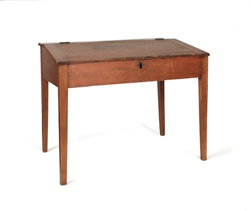 734: Pennsylvania pine work desk, 19th c., 30'' h., 37'