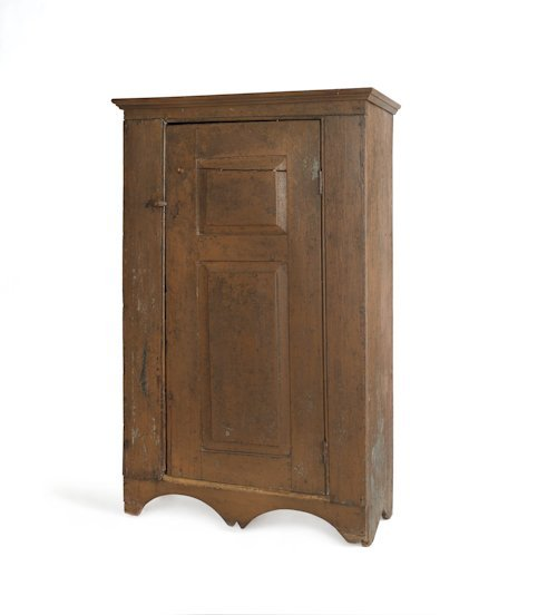 739: Pennsylvania painted pine wall cupboard, 19th c.,