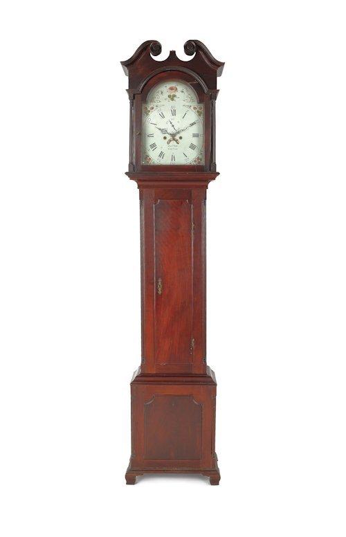 740: Pennsylvania Chippendale cherry tall case clock