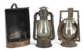 Copper And Tin Gigging Lantern, 19th C., Together