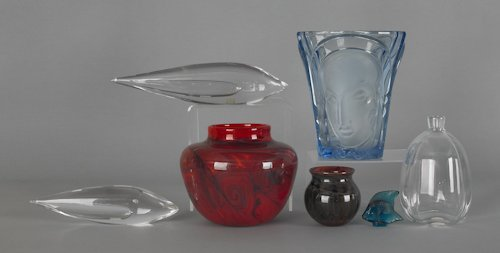 1064: Collection of art glass, to include an Orrefors b