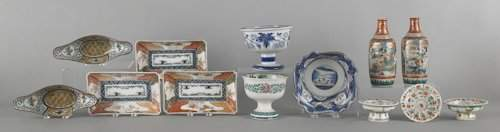1253: Collection of Chinese and Japanese porcelain, twe