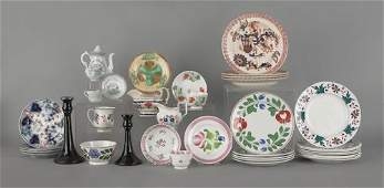 1404: Large group of miscellaneous porcelain, 19th c.,