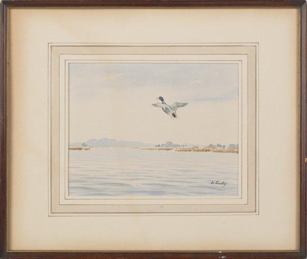 7: John Sudy (American 1880-1960), two watercolor la