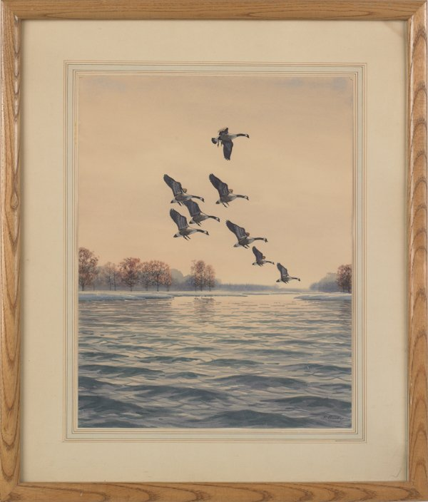 7: John Sudy (American 1880-1960), two watercolor la - 2