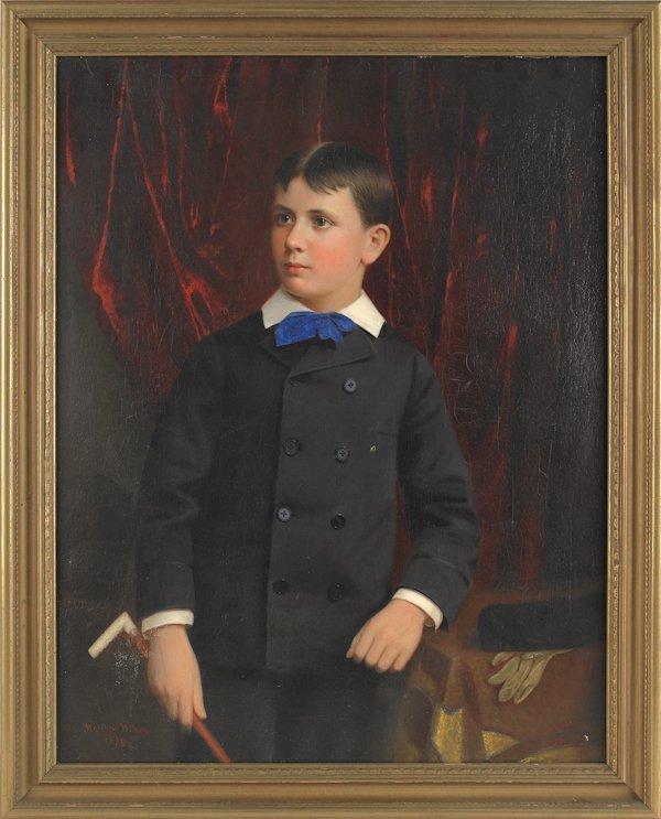 8: Matthew Wilson (American 1814-1892), oil on canva