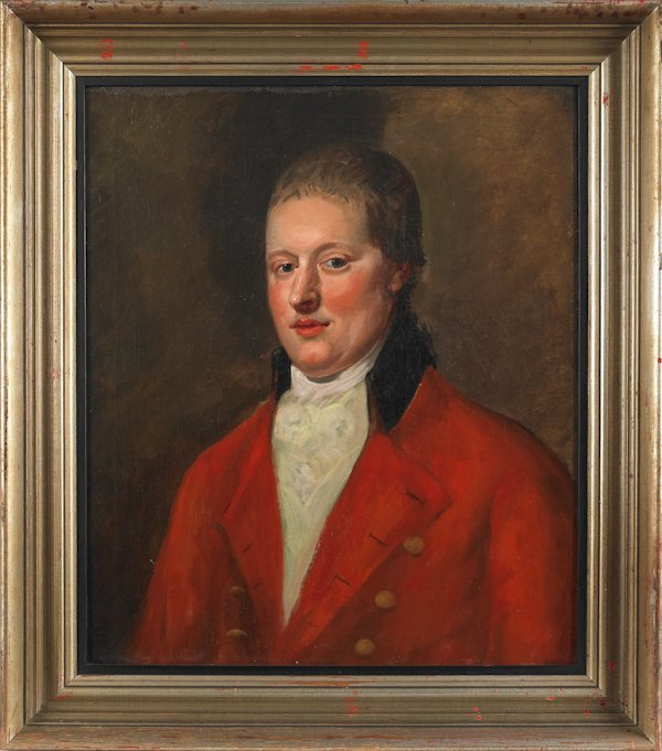 12: Oil on canvas portrait of a gentleman, late 19th