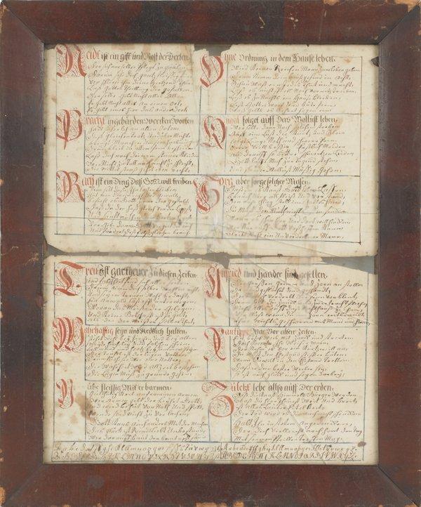 20: Pennsylvania ink and watercolor vorschrift, ca. 1