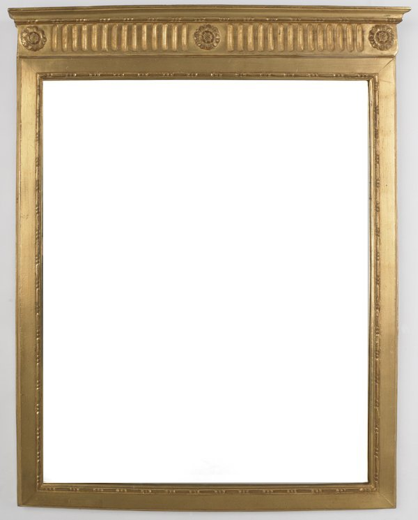 625: Carvers' Guild gold leaf mirror, 42'' x 31''.