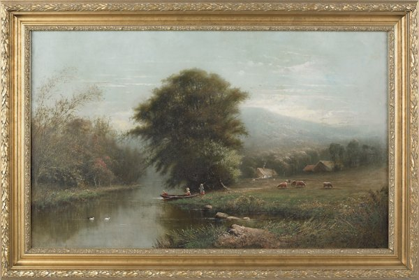 5: Frederick A. Spang (American 1834-1891), oil on