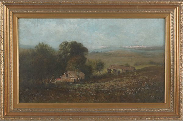 7: Frederick A. Spang (American 1834-1891), oil on