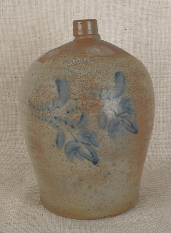 19: Pennsylvania four-gallon stoneware jug, 19th c.