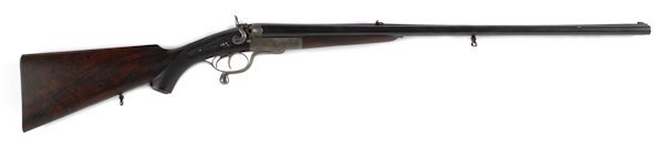 326: Cased J. Purdey side by side under lever double-