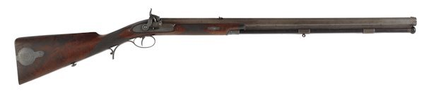 333: Cased J. Purdey percussion half stock rifle, .7