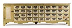 9: Pennsylvania painted pine apothecary cabinet, mi