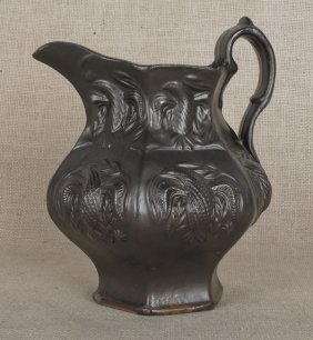 Molded Stoneware Pitcher, Ca. 1835, Probably Wo